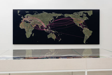 Tiffany Chung, 'reconstructing an exodus history - flight routes from camps and of ODP cases ', 2017