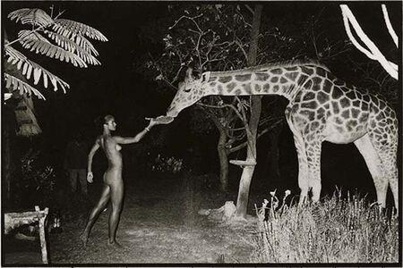 Peter Beard, 'Beyond Gauguin Night Giraffe Feeding, Platinum Print - Framed', 1998