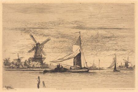 Vicomte Ludovic Napoléon Lepic, 'Environs de Dordrecht', ca. 1870