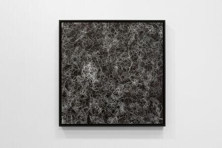 Nadia Kaabi-Linke, 'Negative of Black Hair on White Ground', 2018