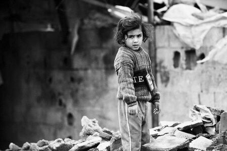 Anthony Dawton, 'Girl in the Middle of her House, Gaza City', 2011