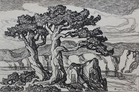 Birger Sandzén, 'Arroyo With Trees', 1925