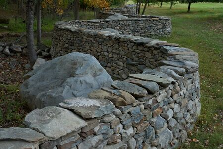 Andy Goldsworthy, 'Five Men, Seventeen Days, Fifteen Boulders, One Wall', 2010
