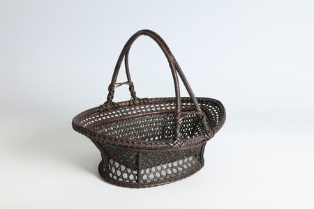 Anonymous, 'Chinese Handled Fruit Basket with Tall Handle  (T-4289)', Qing dynasty (1644–1911)-19th century