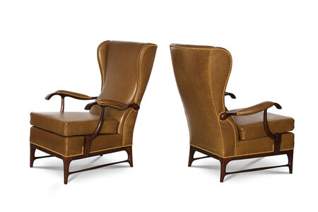 Paolo Buffa, 'Pair of High-Back Lounge Chairs', ca. 1950