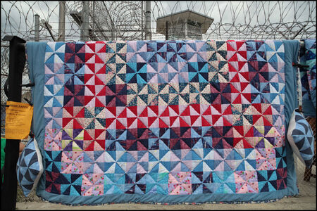 """Keith Calhoun, '""""The Quilt"""" made by members/ inmates and caregivers in the Angola Hospice program', 2013"""