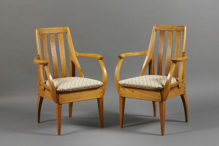Richard Riemerschmid, 'Pair of armchairs ', 1906-1907