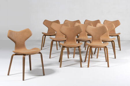 Arne Jacobsen, 'Set of 10 chairs Grand Prix', 1957