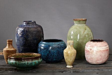 Émile Decoeur, 'Group of Émile Decoeur Vases and Bowls', 1901-1930