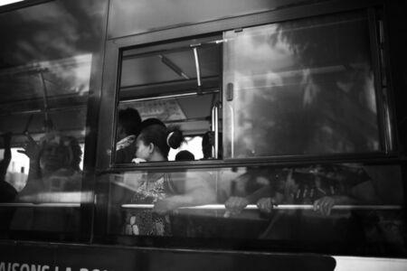 Andrew Tshabangu, 'Bus on Route to St Denis Center, Le Grand Chemin, St Denis, Reunion Island Series', 2018
