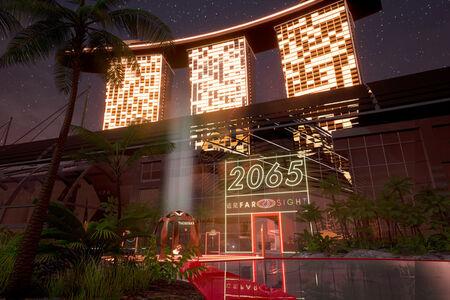 Lawrence Lek, '2065 (Open World Videogame)', 2018