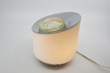 Fontana Arte, 'Vintage Fontana Arte Table Lamp with Carved Crystal by Max Ingrand, circa 1960', 1960s
