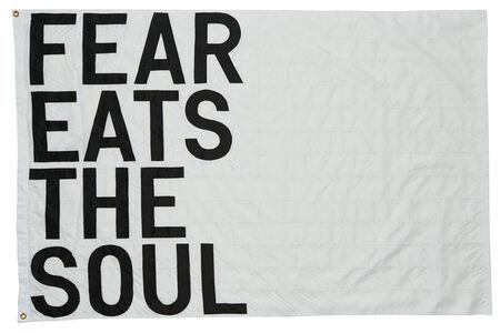 Rirkrit Tiravanija, 'Untitled 2017 (fear eats the soul) (white flag)', 2017