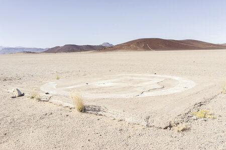 Margaret Courtney-Clarke, 'Helipad in Copper Valley, Messum Complex, 6 July 2014', 2018
