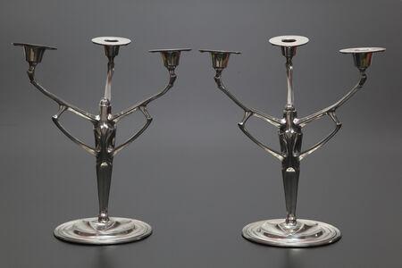 Friedrich Adler, 'Pair of Candelabras designed for Urania Co.', 1904