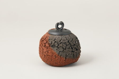 Ito Sekisui V, 'Sado Island Red Round Incense Burner', 2016