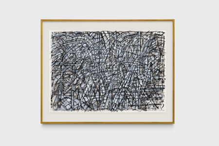 Milton Machado, 'O pânico de Mondrian diante da árvore [Very dark drawing with a very long tail or Mondrian's panic while facing a tree]', 2019