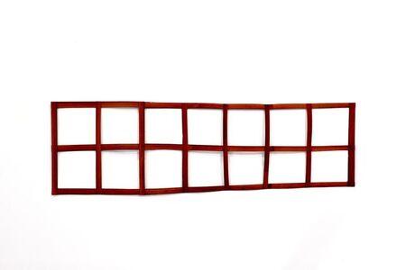 Daniel Dezeuze, 'Red horizontal scale', 1971