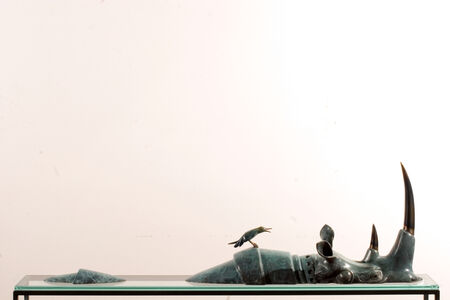 Pierre Matter, 'Swimming Rhino', ca. 2014