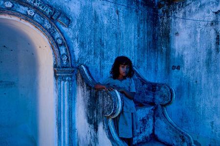 Ron Haviv, 'Girl in Blue', 2007