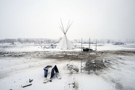 Larry Towell, 'Oceti Sakowin Camp the day the inhabitants were told to evacuate.', 2017