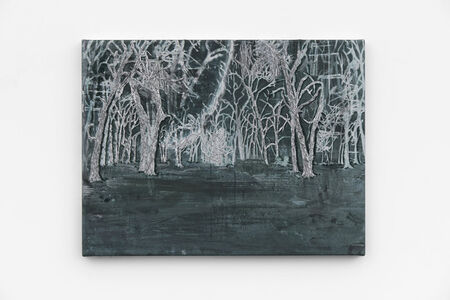 Michael Raedecker, 'demo (unavouable-silver)', 2020