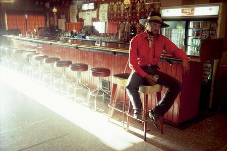 William Albert Allard, 'Stan Kendall at the bar, Mountain City, Nevada', 1979