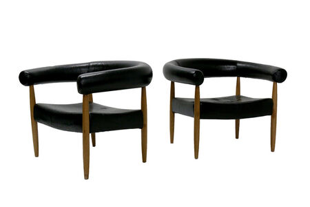 Nana Ditzel, 'A pair of Ring Chairs', mid 20th century or later