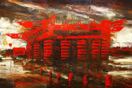 Alessandro Busci, 'Milano San Siro Rosso', 2019