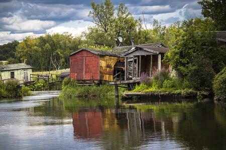 Marcia Lloyd, 'Fishermen's Shacks, Hudson, NY', 2019