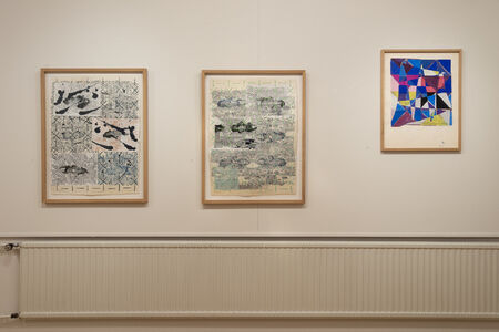 François Rouan, 'Pelote absorbante, Eponge 4 and Tressage Collage ', 2012-2016 and 1967