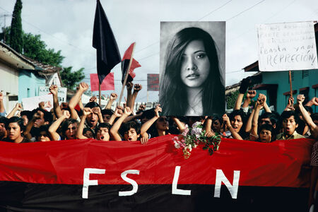 Susan Meiselas, 'A funeral procession for assassinated student leaders. Jinotepe, Nicaragua. '