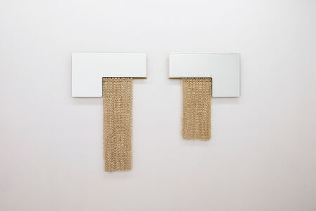 Eny Lee Parker, 'Set of L-Shaped Mirrors with Ivory Chainmail', 2018-2019