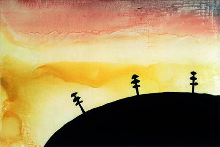 Axel Kasseboehmer, 'Landschaft grün, gelb, rot', 1995