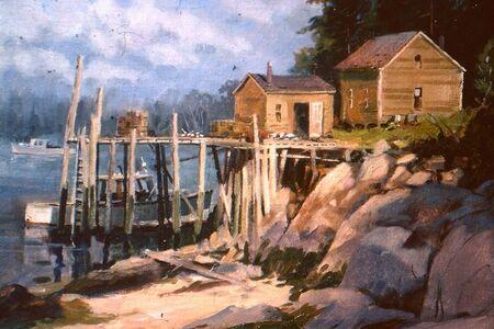 Frederick Kubitz, 'Low Tide - Lobsterman's Wharf - Beals Island, ME', 1997