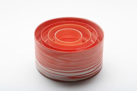 Inhwa Lee, 'Shadowed Color: red cylinder set', 2013