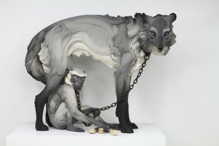 Beth Cavener, 'Tribute (Wolf and Monkey)', 2017