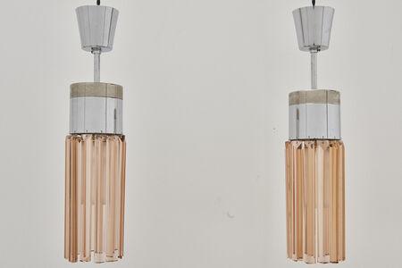 Stilnovo, 'Vintage Pair of Peach Crystal Pendant Lamps, Model No. 1327 by Stilnovo, 1960s', 1960s