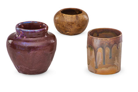Pewabic Pottery & Ceramics, 'Three small vessels'