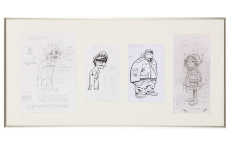 Jamie Hewlett, 'Original drawings for Gorillaz - 2D, Murdoc, Russell & Noodle', 2001