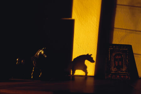 Lake Verea, 'Horse sculpture and Shadow with Georges Rouault Painting', 2011-2013