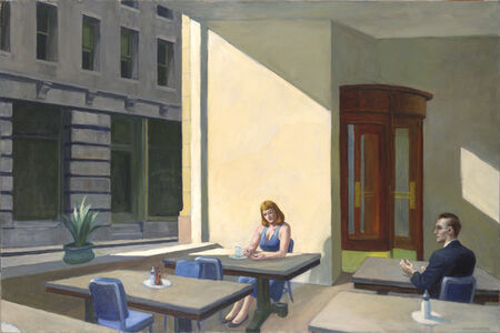 Edward Hopper, 'Sunlight in a Cafeteria', 1958