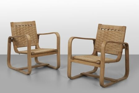 Giuseppe Pagano Pogatschnig, 'A pair of armchairs made for the Bocconi university', 1942