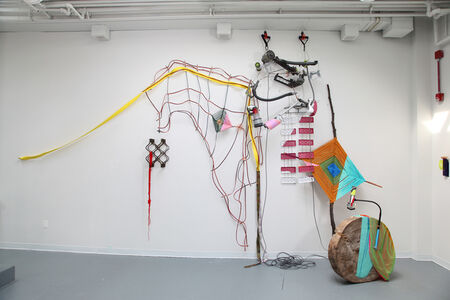 Jessica Stockholder, 'Between the Lines', 2017