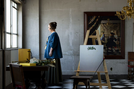 Yasumasa Morimura, 'Self-Portraits through Art History (Vermeer's Room)', 2016