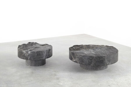 Mathieu Lehanneur, 'Ocean Memories Circular Low Table Grey (XL)', 2017