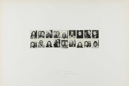 Franco Vaccari, 'Esposizione in tempo reale N.4 Lascia su queste pareti una traccia fotografica del tuo passaggio', 1972