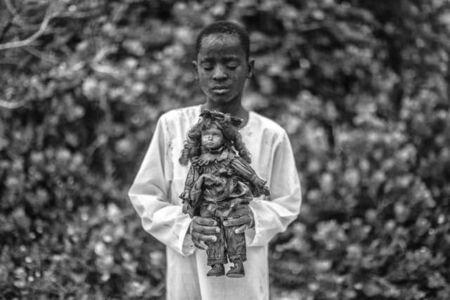 Mário Macilau, 'A boy with a toy', 2018