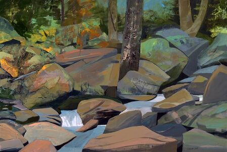 Mariella Bisson, 'Painting a Rocky Brook', 2019