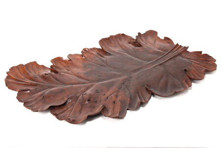 NON NAME, 'Tray in the shape of a leaf  20 0081', 1850~